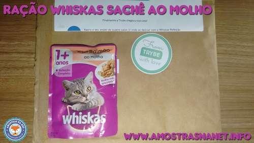Whiskas sachê ao molho recebida gratis