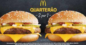 Quarterão mcdonald's gratis