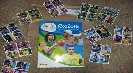 Álbum de figurinhas Rio 2016 recebido gratis