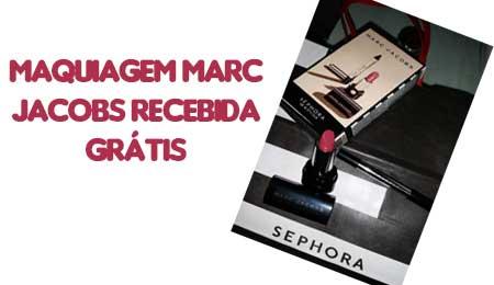 Maquiagem marc jacobs recebida gratis sephora