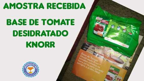 Amostra tomate desidratado recebida